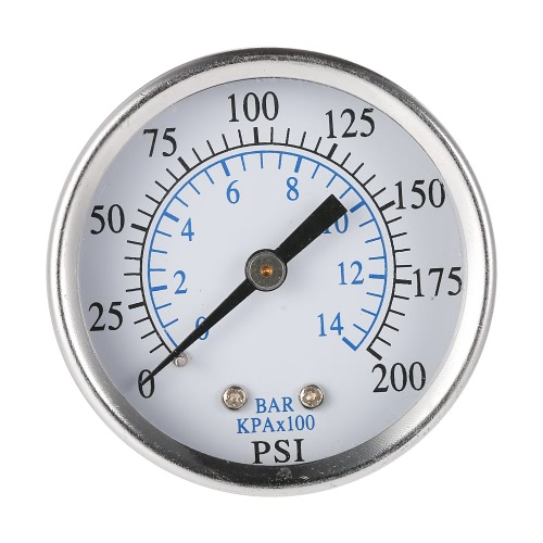 50mm 0~200psi 0~14bar Pool Filter Water Pressure Dial Hydraulic Pressure Gauge Meter Manometer 1/4