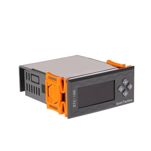 Универсальная Высокая точность AC110-240V СИД цифровой регулятор температуры Thermostast 2 реле с NTC датчиком ℃ и ℉ сигнала тревоги температуры