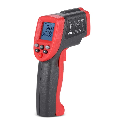 Meterk MK700 -50~750°C 12:1 Multifunctional Handheld Non-contact Digital LCD IR Infrared Thermometer Temperature Tester Pyrometer with Backlight Data Storage Adjustable Emissivity