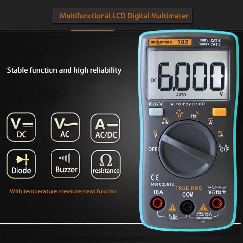 RICHMETERS RM102 True RMS Digital Multimeter, TOMTOP  - buy with discount