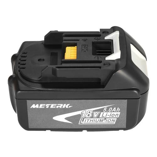 Meterk BL1850 18V 5.0Ahパワーツールバッテリー大容量リサイクル可能なリサイクルバッテリーパックMAKITA用
