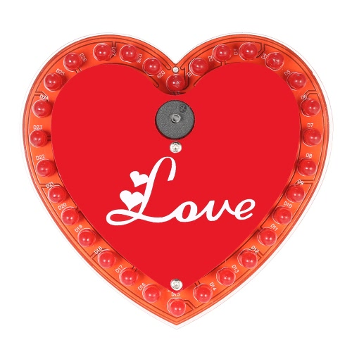 Flash LED en forme de coeur lumière DIY Kit 30 LED Beautiful Love Music Box Set électronique d'éclairage