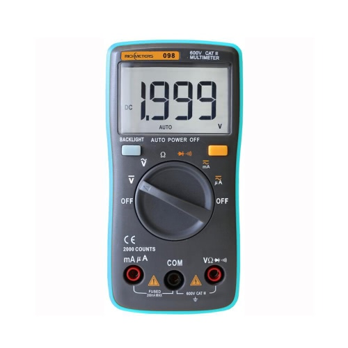 RICHMETERS RM098 Multifunctional LCD Digital Multimeter
