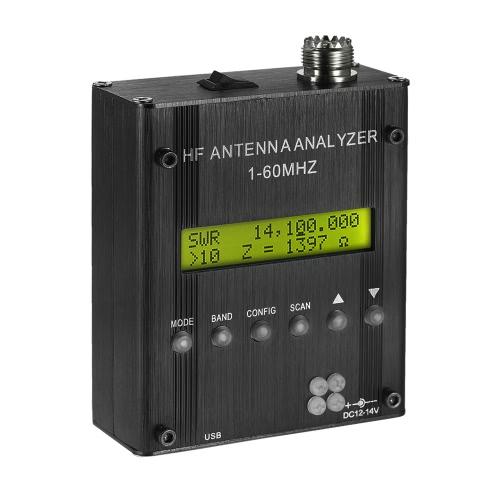 MR300 Digital Shortwave Antenna Analyzer Meter Tester 1-60MHz RF SWR for Ham Radio