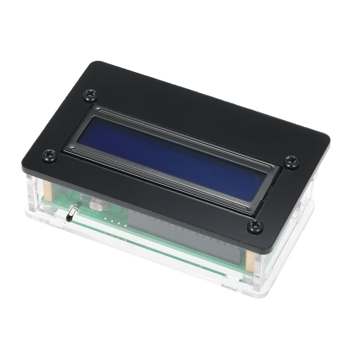 1602 Cyfrowy zestaw zegara cyfrowego LCD z akrylowym czasem obudowy Temperatura Data tygodnia Wyświetlacz 3-kanałowy budzik
