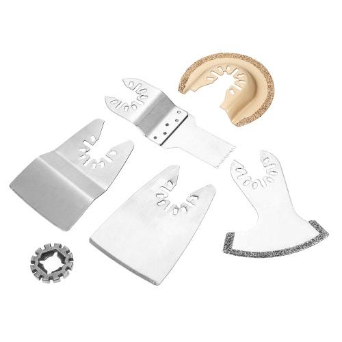 KKmoon 15pcs Mix Oscillating Blade Kit Multi Tool Saw Blades for Dremel Fein Multimaster Makita Bosch Rockwell Sonicrafter Worx Mu