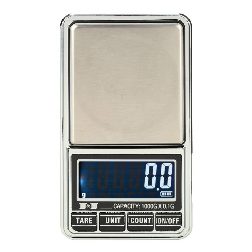 Meterk Professional Mini Digital Scale Jewelry Электронные карманные весы Precision Balance 600g * 0.01g / 1000g * 0.1g