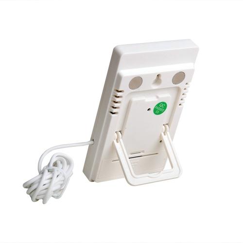 Meterk LCD Digital Termômetro interior / exterior Higrômetro Temperatura Medição de umidade ° C / ° F Visor de valor mínimo máximo