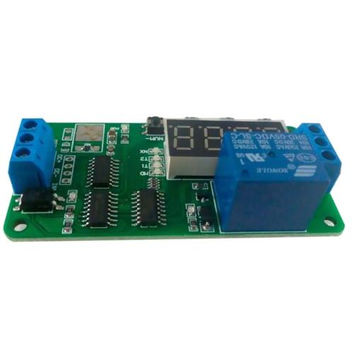 1CH 12Vデジタル管多機能遅延リレーLEDタイマースイッチPLC Smart Home