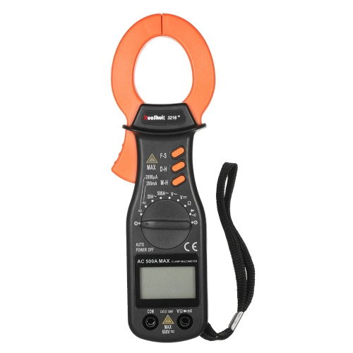 RuoShui 1999 Counts Meter Clamp Meter AC / DC Tensione Voltaggio Auto Range Dispositivo portatile Diaplay LCD Diaplay Auto-ranging Morsetto multimetro Resistenza Diodo Tester