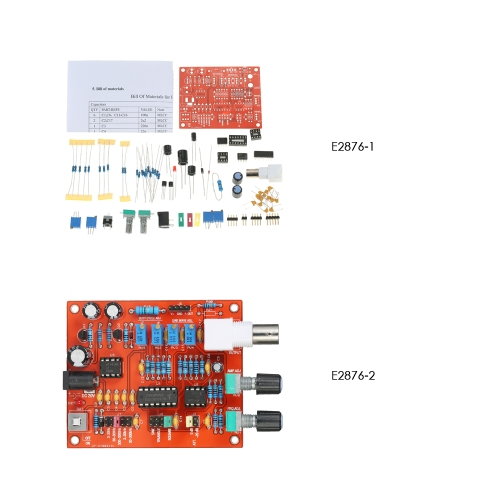High Precision FG8038(ICL8038) Function Signal Generator DIY Kit Square/Triangle/Sine Wave Output 3Hz-300kHz Adjustable Frequency
