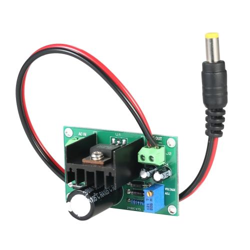 LM317 1.25V-22V連続可変電圧電源降圧モジュール入力AC18V DIYキット