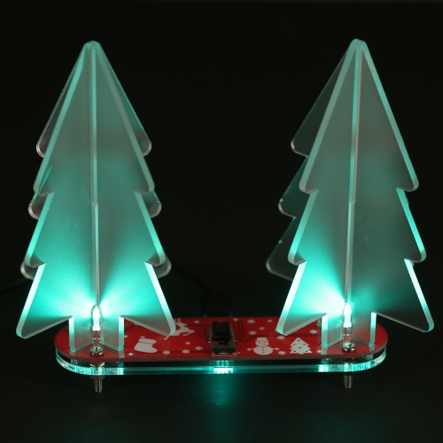 DIYフルカラーLEDライトアクリル3Dクリスマスツリー電子学習キットモジュールを変更する