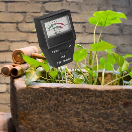 2 in 1 Mini Soil pH Meter Fertility Tester Analyzer