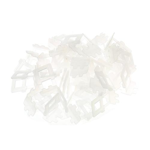 50 unids / set sistema de nivelación de azulejos de 1 mm Lash Alineación de clips espaciadores Herramientas de baldosas
