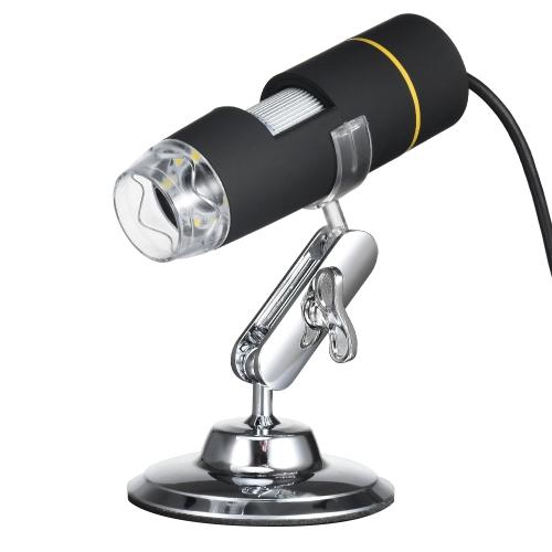 1000X Ampliação Microscópio USB Digital com função OTG Endoscópio 8-LED Light Lupa Magnifying Glass com suporte