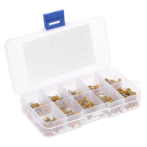 500 pcs 10Values * 50 pcs 0.1uF-10uF (104 ~ 106) 50 V multicouches condensateurs en céramique assortiment de Kit assortiment avec boîte de rangement