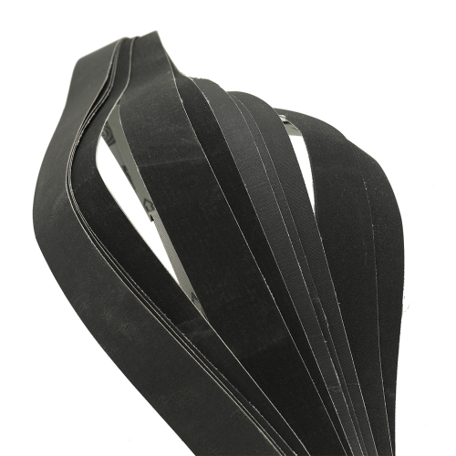 12pcs 1in Width 30in Long Black Soft Cloth Sanding Belt Assorted 400 / 600 / 800 / 10000 Grits 3 each