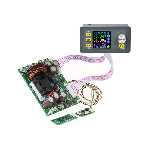LCDデジタルプログラマブル制御昇降圧電源モジュール定電圧電流DC 0-50.00V / 0-20.00A出力通信バージョン+ブルートゥースボードDPS5020-USB-BT