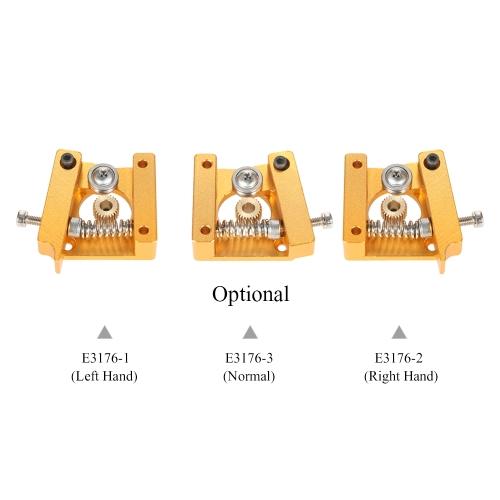 3D Printer MK8 1.75mm Remote Extruder Accessories Aluminum Frame for Makerbot Reprap Left Hand