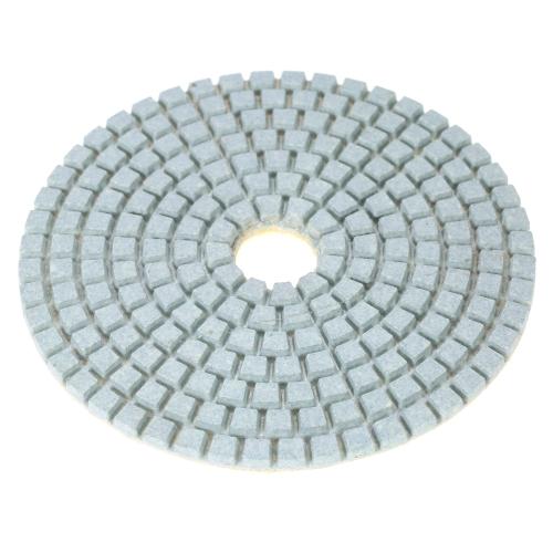 """7pcs 4 """"cojines de pulido mojados flexibles del diamante que muelen el disco + el cojín de respaldo 1pc para las baldosas cerámicas de piedra del mármol del granito"""