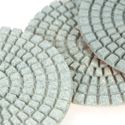 10pcs 3 Diamond Flexible Wet Polishing Pads Grinding Disc + 1pc Backing Pad for Granite Marble Stone Ceramic Tile Concrete