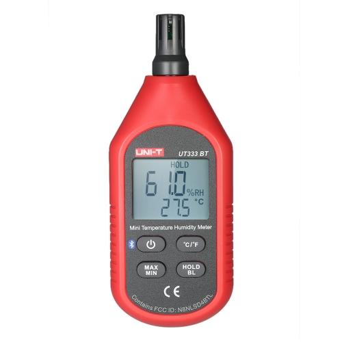 UNI-T UT333BT ° C / ° F Портативный миниатюрный измеритель температуры и влажности ЖК-цифровой термогигрометр Тестер психрометра