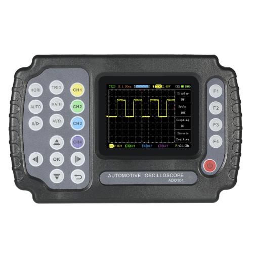 Display LCD TFT LCD multimetro per oscilloscopio con memorizzazione automatica tenuto in mano 2 canali 10MHz larghezza di banda 100MSa / s Frequenza di campionamento