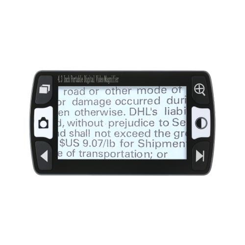 4,3 pouces 6x-16x portable loupe numérique portative aide à la lecture électronique tenue à la main Sortie audio-vidéo à la télévision avec 12 types de modes de couleur Fonction de congélation et de décongélation à pile rechargeable TV-out