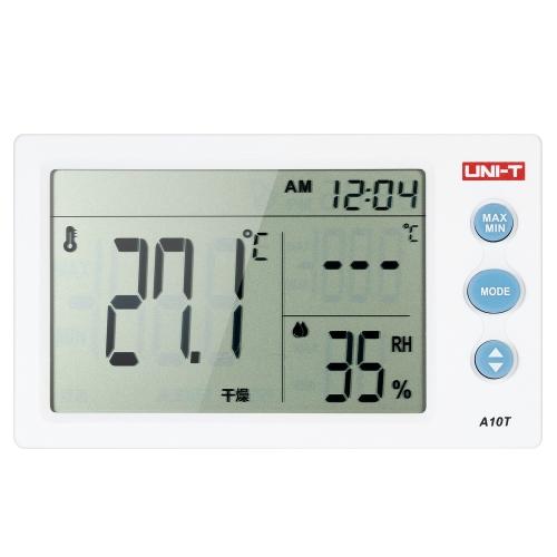 UNI-T A10T ° C / ° F Mini medidor portátil de temperatura e umidade