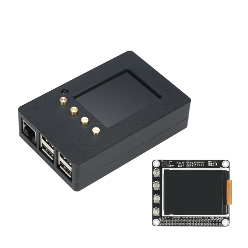 Caja de aleación de aluminio kit de bricolaje con pantalla de 2,2 pulgadas Alta PPI TFT LCD de frambuesa Pi 2 modelo B / B + / Pi 3