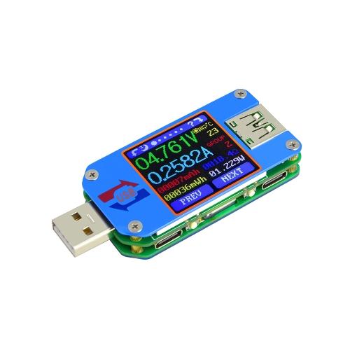 RD UM25C USB 2.0 Tipo-C Color LCD Display Tester Versão de comunicação