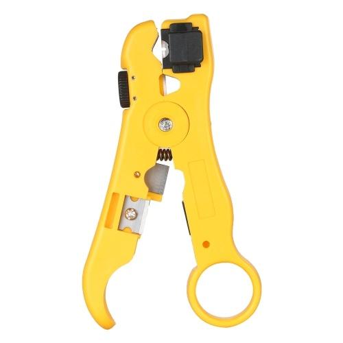 Tni-U TU-352 Stripper filo multifunzionale per RG59 / 11/7/6 Cable Cutter Stripping Tool