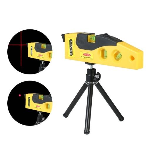 Indicatore di livello a livello laser professionale con treppiede regolabile Puntatore laser a croce Linea orizzontale Misurazione verticale a 45 gradi