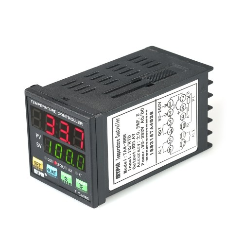 Automatic Digital LED PID Temperature Controller Thermometer RRR 2 Alarm Relay Output TC/RTD Input