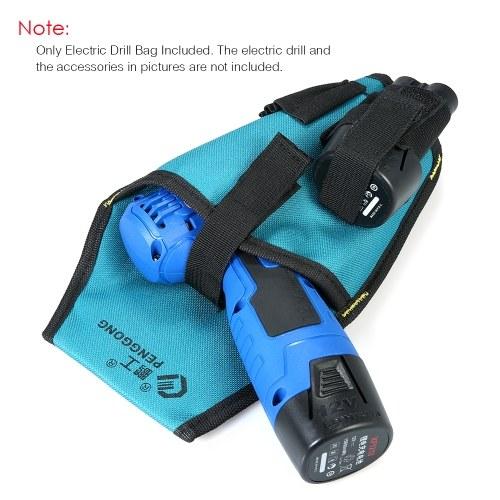PENGGONG Electronic Drill Bag Waist Tool Pockets Pouch Organizer Oxford Canvas Drill Waist Bag Pocket with Belt Wearable & Waterpr