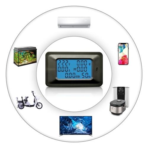 100A Цифровой измеритель напряжения Энергометр LCD 5KW Коэффициент мощности Измерители частоты Частотный преобразователь Амперметр Амперметр Амперметр фото