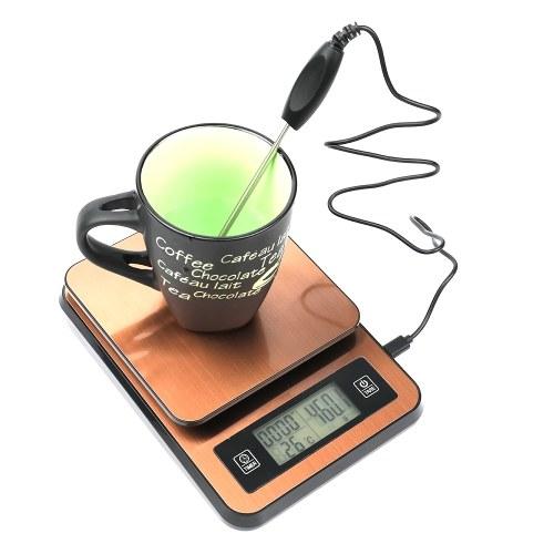 Bilancia elettronica a tempo del caffè fatto a mano con sonda di temperatura
