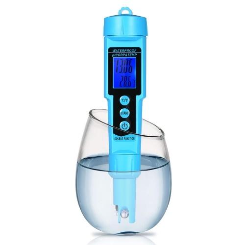 Professional 3 in 1 pH/ORP/TEMP Meter Water Detector Multi-parameter Digital LCD Tri-Meter Multi-function Water Quality Monitor Multi-parameter Water Quality Tester