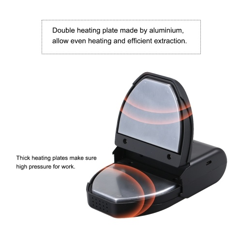 DIY Mini Press Machine Heavy Duty Double Heat Plate USB Charging