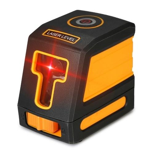 Livelle autolivellanti a 2 linee Livello laser rosso Livellamento linea trasversale professionale orizzontale e verticale Livellamento laser Kit con linee laser selezionabili e diffusione del fascio verticale