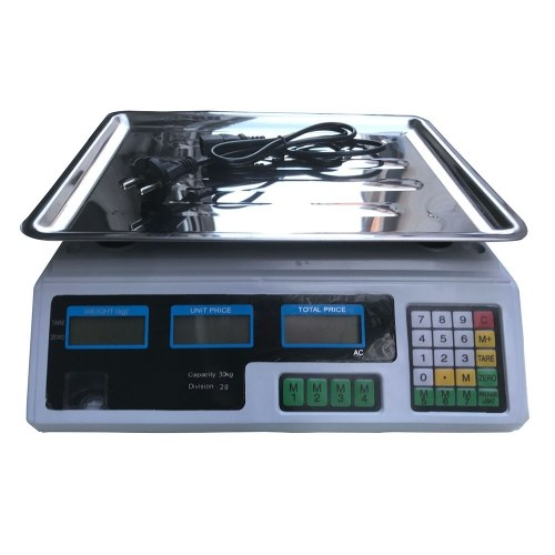 30KG/66LB Electronic Price Computing Scale Food Meat Fruit Weight Weighing Scale Counting Equipment With Dual LCD Screen Display AC Power Cord Rechargeable Battery for Kitchen Outlet Stores Shops Supermarkets
