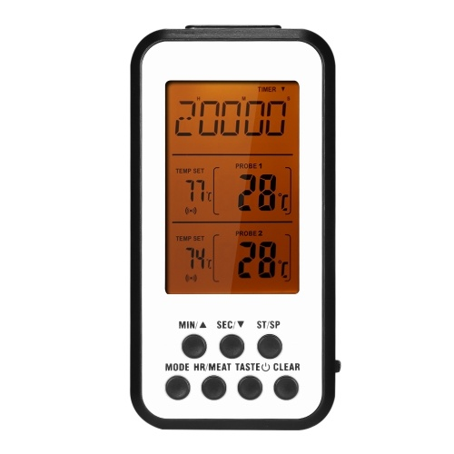 -20~300℃ / -4~572℉ Digital Cooking Thermometer Grill Thermometer Wireless Temperature Gauge for Barbecue Grill Cooking