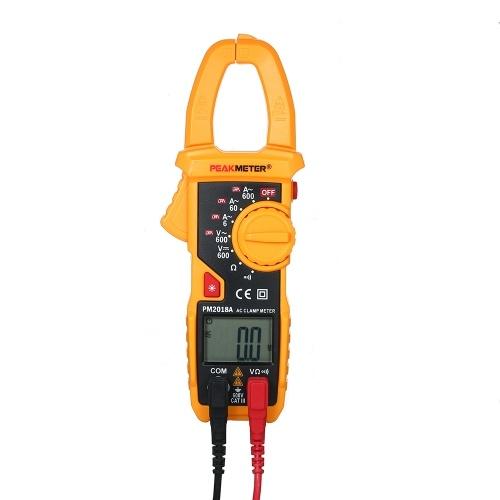 PEAKMETER PM2018A LCDディスプレイデジタルACクランプメータ2000カウントマルチメータAC / DC電圧電流抵抗連続性測定テスタ