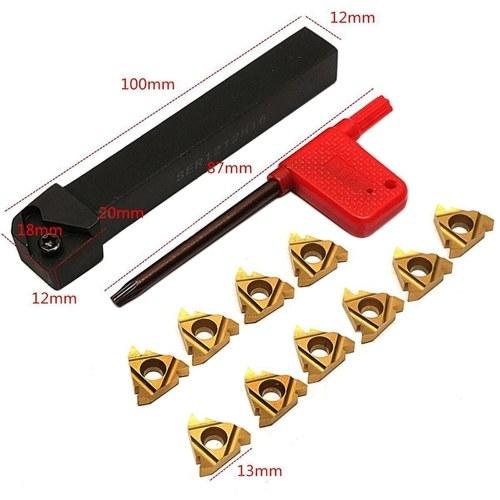 SER1212H16 Держатель инструмента с ЧПУ для расточной оправки + 10шт 16ER AG60 Вставки + T15 Токарный инструмент