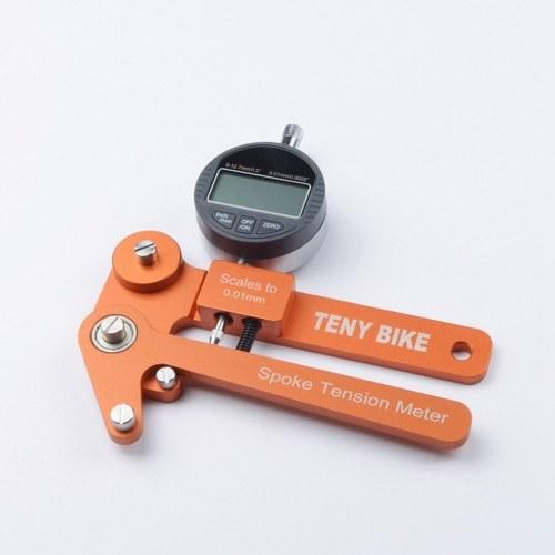 アルミ合金バイクスポークテンションメーターホイールビルダー工具バイクインジケーターテンシオメータースケール0.01mm
