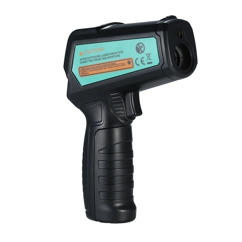 FUYI FY580C Non-contact IR Infrared Thermometer Digital Handheld Temperature Tester 12:1 Pyrometer Color LCD Display with Backlight Centigrade Fahrenheit -50~580℃(-58~1076℉)