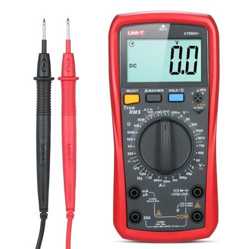 UNI-T UT 890 D +デジタルマルチメータトゥルーRMSハンドヘルドミニユニバーサルメータAC DC電圧計電流計高精度測定AC / DC電圧電流抵抗容量周波数ダイオードテスタファイヤワイヤ検出