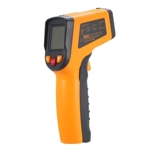 -50〜600°C(-58〜1112°F)ハンドヘルド非接触デジタル赤外線IR温度計温度テスターバックライト付き温度計LCDディスプレイRM600