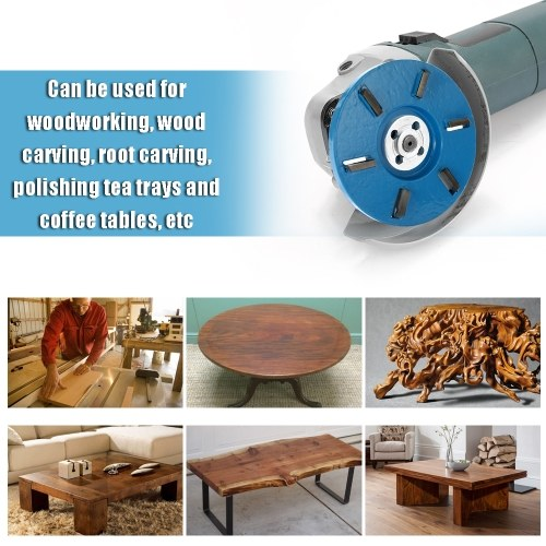 Six Teeth Power Wood Carving Disc Tool Milling Cutter for 16mm Aperture Angle Grinder